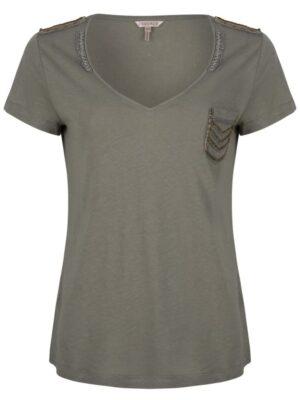 Esqualo linnen t-shirt met patches