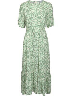 Groene bloemenprint jurk