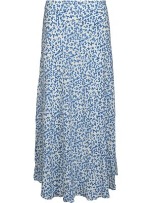 Blauwe bloemenprint rok