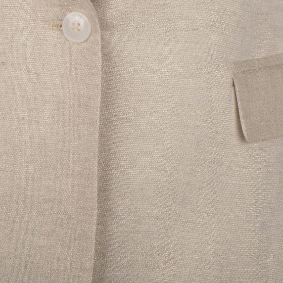Esqualo linnen blazer metallic