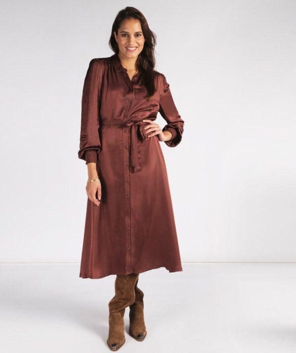 satijnen jurk Esqualo
