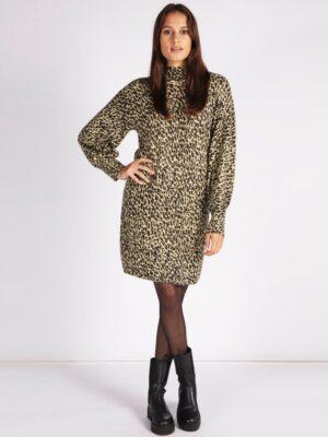 Esqualo jurk leopard print