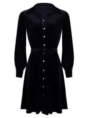 Esqualo velvet black dress